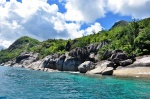 Black granite, Seychelles